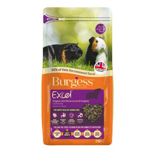Burgess Excel Nuggets Blackcurrant & Oregano Guinea Pig Food 2kg