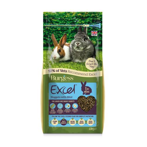 Burgess Excel Nuggets with Mint Junior/Dwarf Rabbit Food 2kg