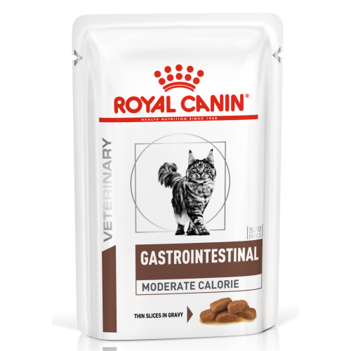 Royal Canin Veterinary Gastro Intestinal Mod Calorie Cat Food 100g x48