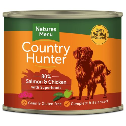 Natures Menu Country Hunter Salmon & Chicken Adult Dog Food Cans 600g x 6