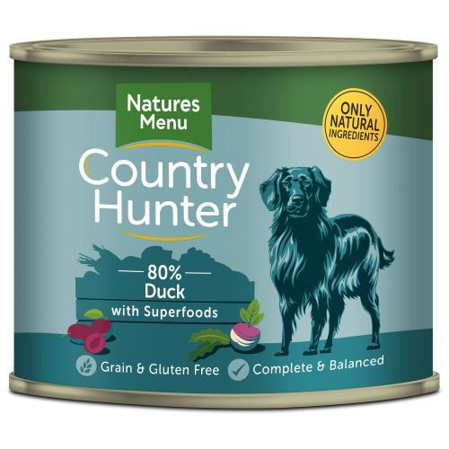 Natures Menu Country Hunter Duck Adult Dog Food Cans 600g x 24