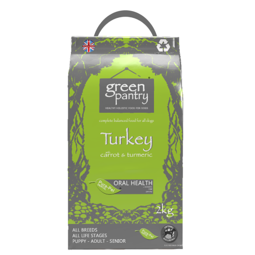 Greendog Turkey & Brown Rice Dry Adult Dog Food 2kg