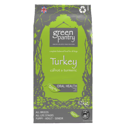 Greendog Turkey & Brown Rice Dry Adult Dog Food 12kg