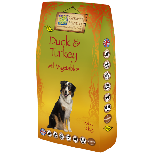 Greendog Duck Turkey & Veg Dry Adult Dog Food 12kg x 2