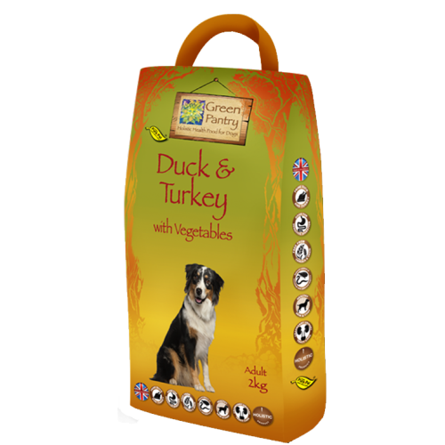 Greendog Duck Turkey & Veg Dry Adult Dog Food 2kg