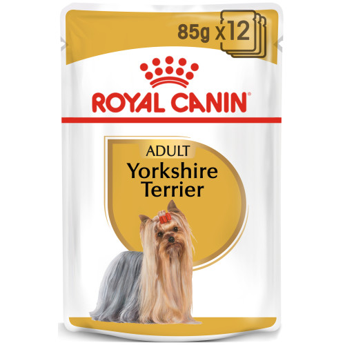 Royal Canin Yorkshire Terrier Wet Pouches Adult Dog Food 85g x 12
