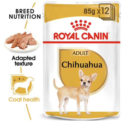Royal Canin Chihuahua Wet Adult Dog Food Pouches 85g x 72