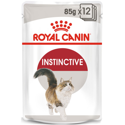 Royal Canin Instinctive Adult In Gravy Wet Cat Food Pouches 85g x 12