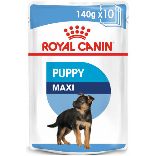 Royal Canin Maxi Puppy in Gravy Wet Dog Food Food Pouches 140g x 10