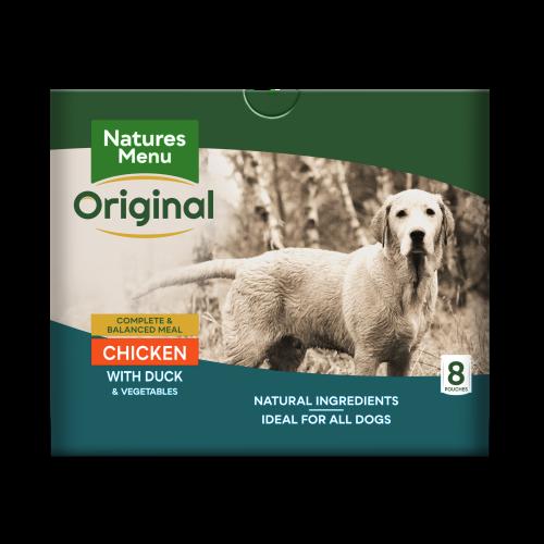 Natures Menu Chicken & Duck Adult Dog Food Pouches 300g x 40