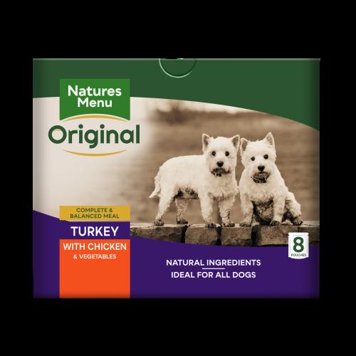 Natures Menu Turkey & Chicken Adult Dog Food Pouches 300g x 40