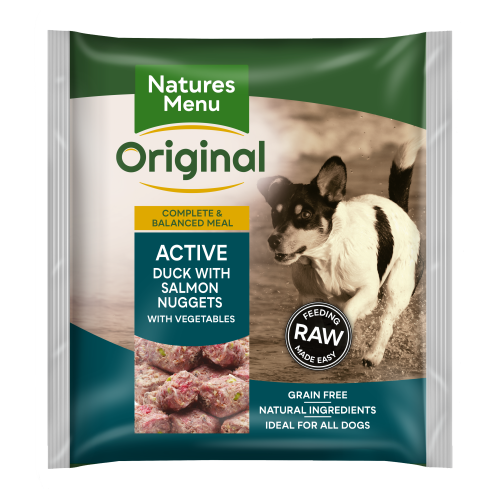 Natures Menu Complete Active Nuggets Raw Frozen Dog Food 1kg