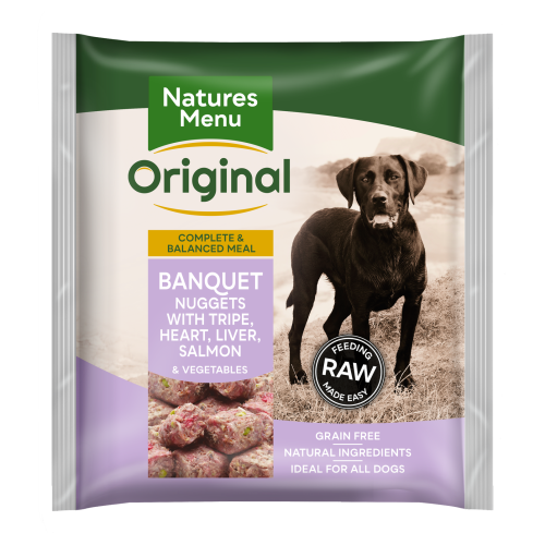 Natures Menu Complete Banquet Nuggets Raw Frozen Dog Food 1kg