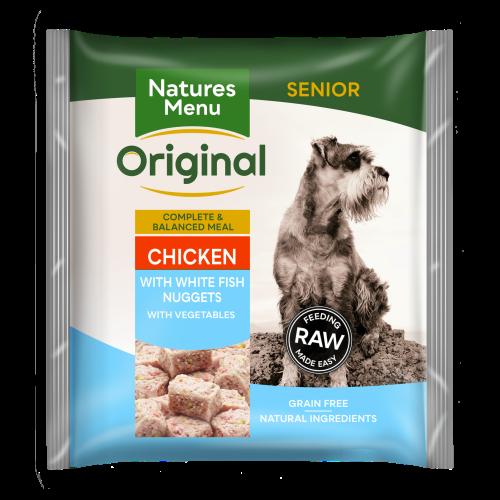 Natures Menu Complete Senior Nuggets Raw Frozen Dog Food 1kg