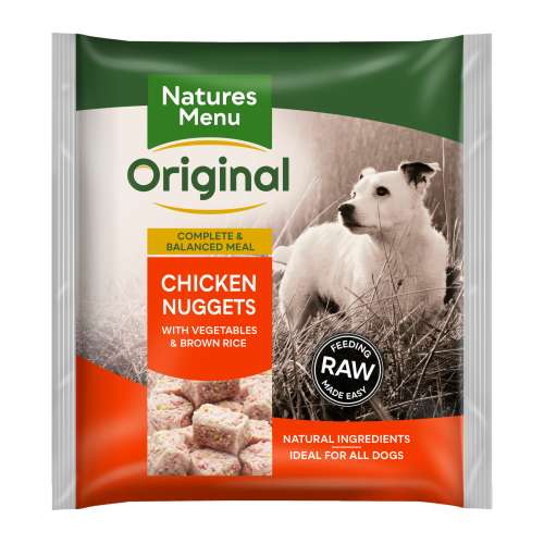Natures Menu Complete Chicken Nuggets Raw Frozen Dog Food 1kg