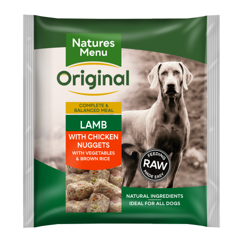 Natures Menu Complete Lamb Nuggets Raw Frozen Dog Food 1kg