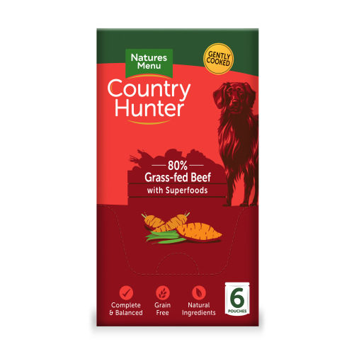 Natures Menu Country Hunter Beef Pouch Adult Dog Food 150g x 6