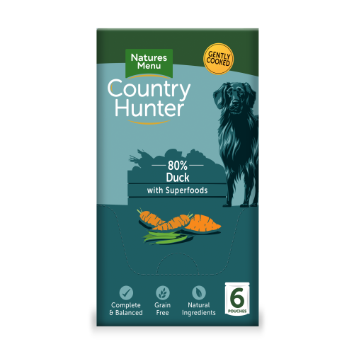 Natures Menu Country Hunter Duck Pouches Adult Dog Food 150g x 6