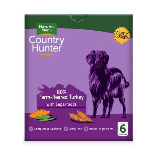 Natures Menu Country Hunter Turkey Pouches Adult Dog Food 150g x 54