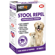 Mark & Chappell VetIQ Stool Repel Tablets 30 Tablets