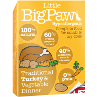 Little Big Paw Traditional Turkey & Veg Dinner Dog Food 150g x 7