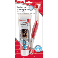 Beaphar Tooth & Toothbrush Dental Kit for Dogs 100g