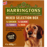 Harringtons Mixed Selection Box Wet Adult Dog Food 400g x 4