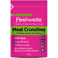 Feelwells Crunchies Meat Dog Treats 90g