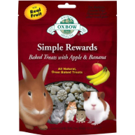 Oxbow Simple Rewards Baked Apple & Banana Treats 60g Apple & Banana