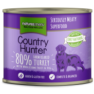 Natures Menu Country Hunter Farm Reared Turkey Adult Dog Food Cans 600g x 6