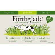Forthglade Complete Grain Free Multipack Dog Food 395g x 48