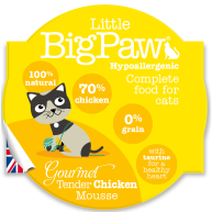 Little Big Paw Gourmet Tender Chicken Mousse Cat Food 85g x 8