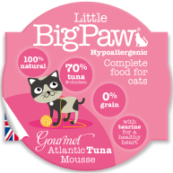 Little Big Paw Gourmet Atlantic Tuna Mousse Cat Food 85g x 8