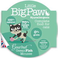 Little Big Paw Gourmet Ocean Fish Mousse Cat Food  85g x 8