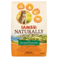Iams Naturally New Zealand Lamb & Rice Adult Cat Food 2.7kg