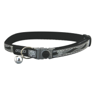 Rogz NightCat Black Reflective Cat Collar