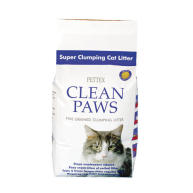 Pettex Clean Paws Super Clumping Cat Litter 15kg