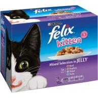Felix Mixed Selection In Jelly Pouch Kitten Food