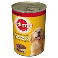 Pedigree Can Beef in Gravy Adult Dog Food 400g x 12