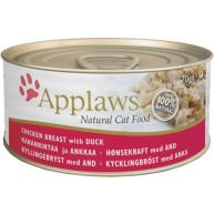 Applaws Chicken & Duck Can Adult Cat Food 70g x 24