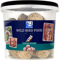 CJ Wildlife Fatballs Wild Bird Food 30 Pack Bucket