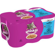 Whiskas Fish Selection in Jelly Adult Cat Food 390g x 6