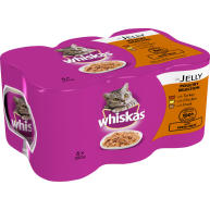 Whiskas Can Poultry Selection in Jelly Adult Cat Food 390g x 6