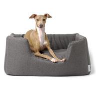 Charley Chau Weave Deeply Dishy Luxury Dog Bed Slate