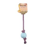 Beco Rope Eco Friendly Ball & Rope Dog Toy Large - Blue