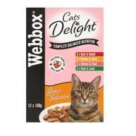 Webbox Cat Delight Selection in Gravy Adult Cat Food 100g x 12