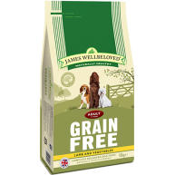 James Wellbeloved Grain Free Lamb & Vegetables Adult Dog Food 10kg x 2