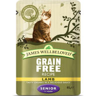 James Wellbeloved Grain Free Lamb Senior Cat Pouches 85g x 12