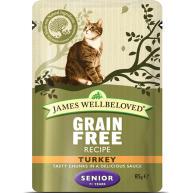 James Wellbeloved Grain Free Turkey Senior Cat Pouches 85g x 12
