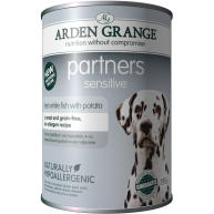 Arden Grange Partners Sensitive Fish & Potato Adult Dog Food 395g x 6